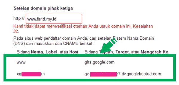 Custom Domain Blogspot Dengan Domain Sendiri
