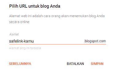 Alamat Blog Baru