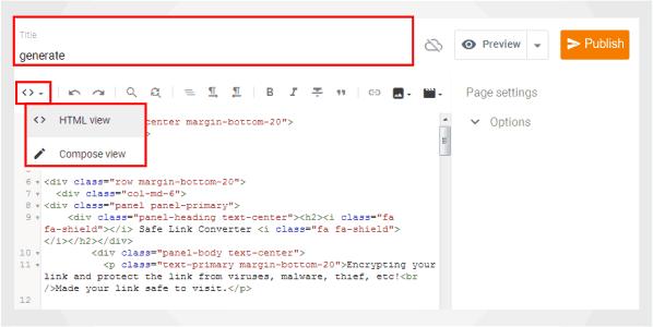 Kode Safelink Blogger
