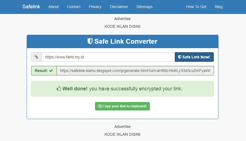 Template Kompi Safelink Convert Premium Blogger